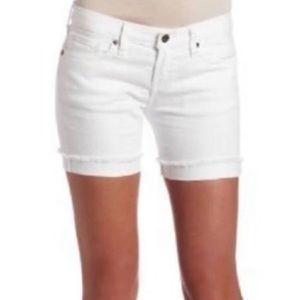 Lucky Jeans White Denim Raw Hem Abbey Shorts 4/27